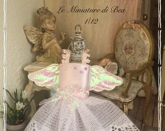 1/12 angel romantic dress miniature-dolls house-hand made by Bea