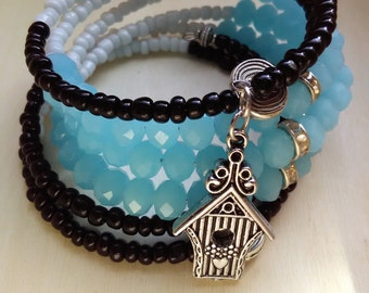 WHOLE - Coil Memory Wire Wrap Bracelet, Affirmation Jewelry, Cause Jewelry, Benefits Homeless Mothers of Atlanta
