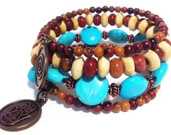 PROTECTION - Coil Memory Wire Wrap Bracelet, Affirmation Jewelry, Cause Jewelry, Benefits Homeless Mothers of Atlanta