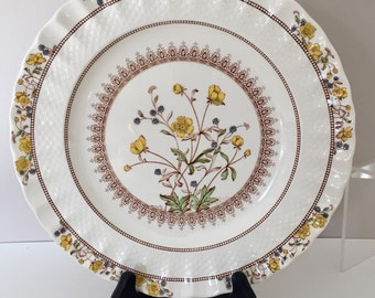 Spode Buttercup Dinner Plates~Mint Condition~England~Two Plates