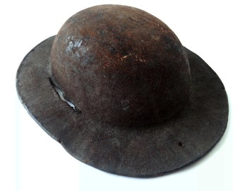 Antique French Miners Hat, Helmet/ French decor / Industrial