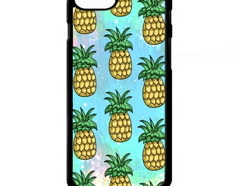 Pineapple summer fruit fruits emoji print fashion pattern colourful cover for iphone 4 4s 5 5s 5c 6 6s 7 plus SE phone case