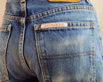 Vintage Levi Strauss bootcut jeans natural waist size 76S made in Australia