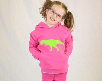 Dinosaur TRex Hoodie girls