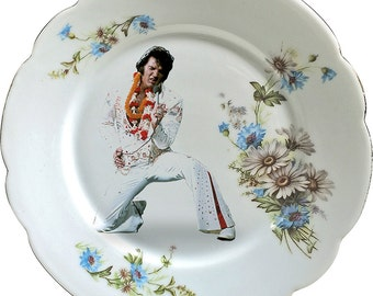 Elvis Presley - The King - Vintage Porcelain Plate - #0419