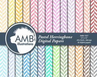 Herringbone papers, Chevron Digital paper, 30 Chevron backgrounds, 30 Herringbone, scrapbooking backgrounds, AMB-1927
