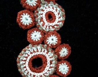 Crochet Fine Cotton Necklace Pendant