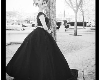 Boho PROM Dress,  HOMECOMING Vintage Inspired Evening Ball Gown Gown, Princess Dress, Bridesmaid Gown with Capped Sleeves
