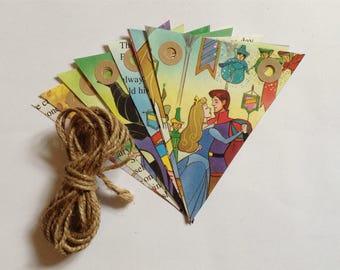 Handmade Sleeping Beauty Bunting - Fairytale - Classic Disney - Vintage Book Bunting - Childrens Gift - Nursery