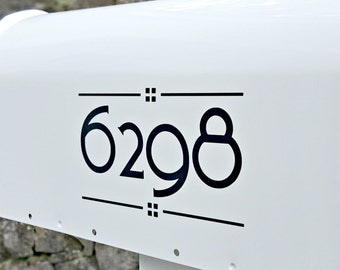 Craftsman Mailbox Numbers (2 sets) | Arts & Crafts Custom Mailbox Numbers