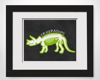 Triceratops Dinosaur Wall Art Dinosaur Party Decor Printable Dinosaur Decorations Dinosaur Kids Decor Dinosaur Art Poster Dino Printable