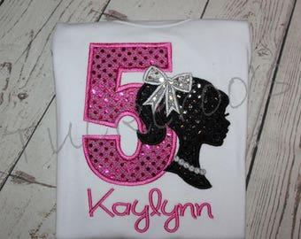Personalized Barbie Birthday Shirt