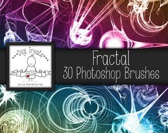 20% OFF Fractal Photoshop Brush Set (30 brushes) High Quality ~ Instant Download.