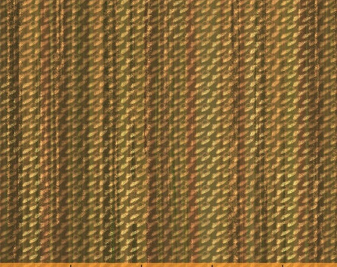 Half Yard Jungle Minis - Basket Weave in Gold - Cotton Quilt Fabric - by Whistler Studios for Windham Fabrics - 40256-3 (W3545)