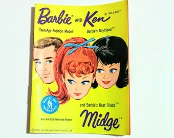 1962 Barbie booklet Japan Barbie Ken Midge