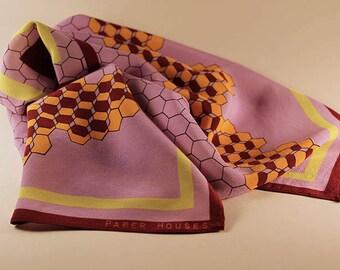 SALE - 65 x 65 cm silk square scarf