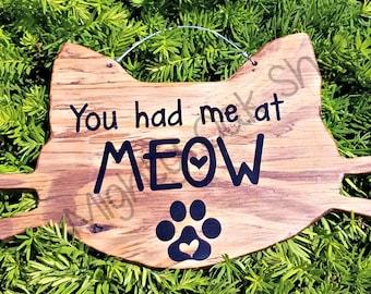 You had me at MEOW Door Hanger