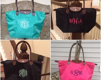 Personalized Womens Tote Bag - Nylon - Tote Bags - Spring Colors