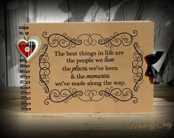 A4 'The best things in life are the people we love' Scrapbook, Photo Album, Memory Book, Keepsake, Friend/Wife/Girlfriend/Husband Gift Idea