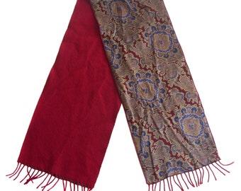 Vintage scarf men floral