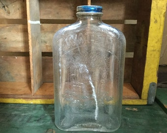 Vintage Glass Water Bottle Etsy