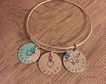 Child and child loss bracelet.