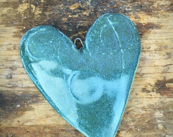 Hanging Hearts ceramic stoneware pottery handmade