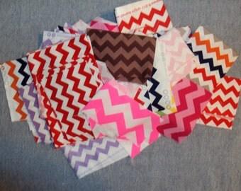 1 LB Chevron Fabric Scrap Pack - Lots of Riley Blake