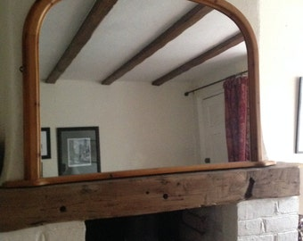 SOLD Overmantle mirror