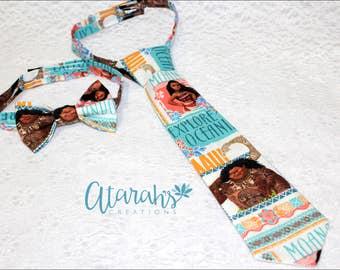 Handmade Moana Neck tie / Moana cake smash outfit / Moana Bow tie / Photo prop. Made in USA