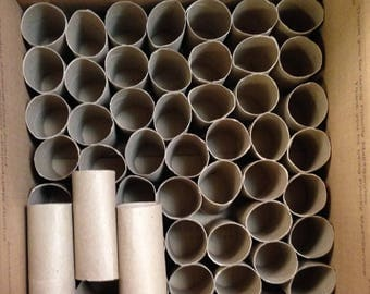50 Cardboard tube empty toilet paper rolls for crafts