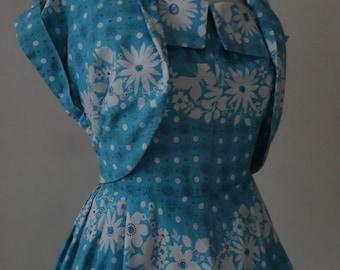 Late 40's Dress and Bolero. Porcelain.
