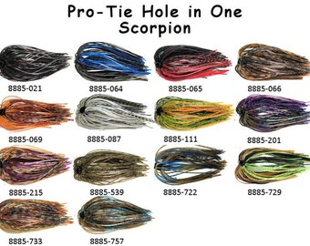 Pro-Tie Hole-in-One Jig Skirts - 41 Color Patterns - Pack of 5
