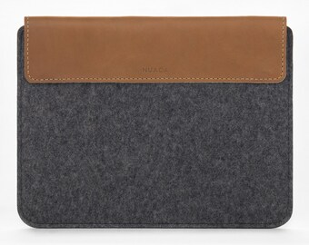 iPad Mini Case - iPad Mini Leather Sleeve - Felt iPad Case - iPad Mini Cover