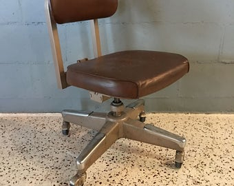 Mid Century Industrial Royal Metal Corporation Rolling Chair