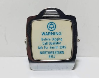 Free Shipping!! Northwestern Bell Advertising Magnetic Clip