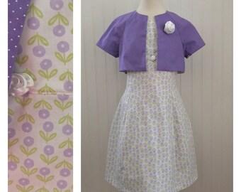 Girls spring dress, girls summer dress, girls dress, girls size 7 dress,  spring dress, girls clothing. Ready to ship
