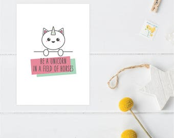 Greeting Card | Little Friends Collection | Unicorn