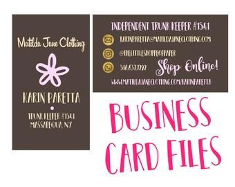 Matilda Jane Clothing Business Card Customized