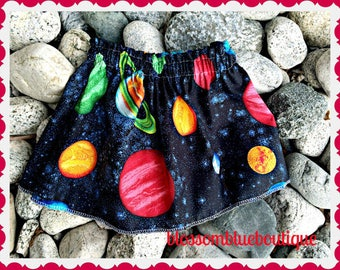 girls Celestial skirt 2T 3T 4T 5T 4/5 6/6X 7/8 10/12 14/16 ready to ship
