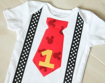 Mickey Mouse Birthday Outfit, Cake Smash Outffit
