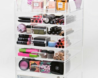 Clear Acrylic Makeup Organizer - Makeup Storage - Makeup Organizer - Beauty Organizer - Makeup Case - Makeup Box