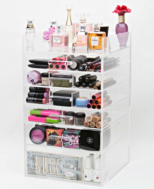 clear acrylic makeup organizer makeup storage makeup. Black Bedroom Furniture Sets. Home Design Ideas