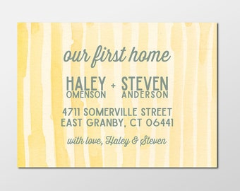 Our First Home Custom Digital Moving Announcement, We've Moved, Move Announcement, PRINTABLE or PRINTED Our First Home Announcement Cards