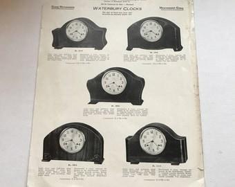 Vintage G.R. L'Esperance Ingersoll Waterbury Clock Brochure