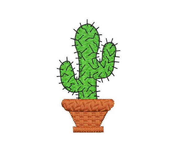 Cactus embroidery design from embroidstock on etsy studio