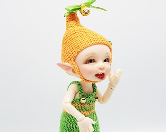 """Realpuki Knitted outfit """"Orange Elf"""""""