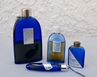 Evening In Paris Cobalt Blue Perfume Bottle Collection Vintage