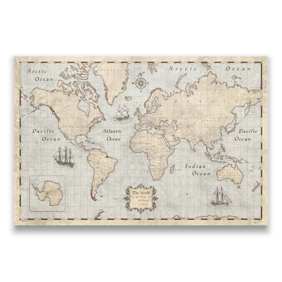 World travel push pin map rustic vintage cork pin board like this item gumiabroncs Image collections