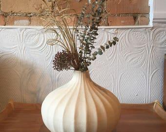 Vintage Mid Century Modern Pottery Vase Boho Scandinavian Nordic Decorate Flower Vase